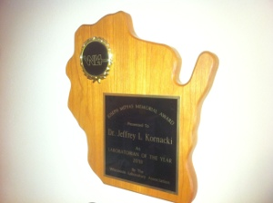Jeff Kornacki receives Wisconsin award